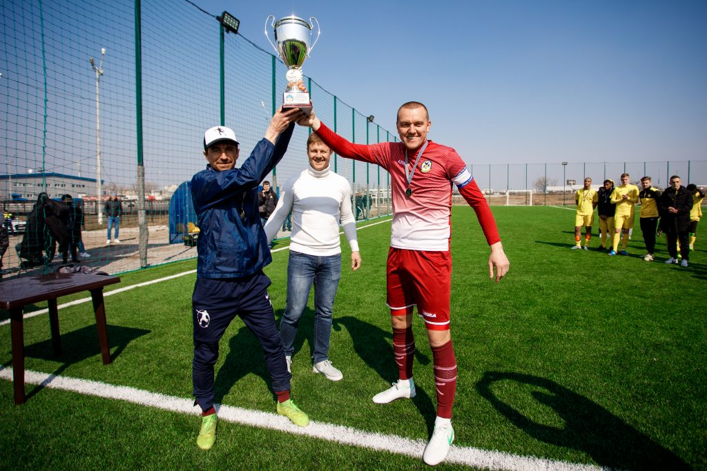 Головний тренер Бабор Олександр (зліва) та президента
